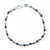 Bracelet Argent 925/000 Multicolore Noir et Blanc - Femme