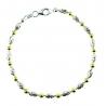 Bracelet Argent 925/000 Bicolore Jaune et Blanc - Femme