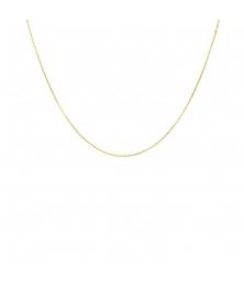 Collier Chaine Or 18 Carats 750/000 Jaune Forçat Diamantée - Femme ou Enfant