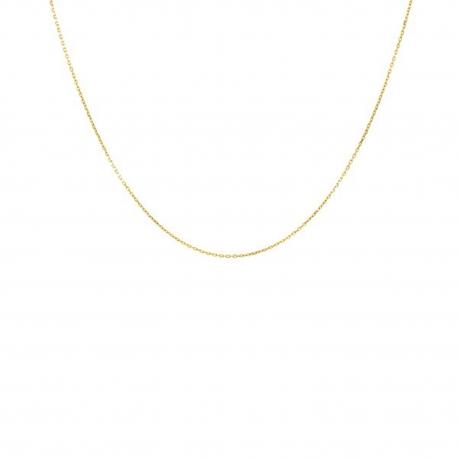 Collier Chaine Forçat Diamantée - Or 18 Carats 750/000 Jaune - Femme ou Enfant