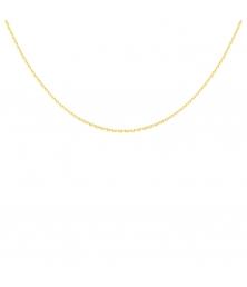 Collier Chaine Or 18 Carats 750/000 Jaune Forçat Diamantée - Homme ou Femme