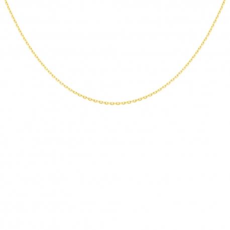 Collier Chaine Forçat Diamantée Massive - Or Jaune 18 Carats 750/000 - Homme ou Femme