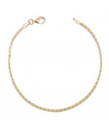 Bracelet Or 18 Carats 750/000 Maille Haricot Jaune - Femme