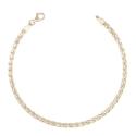 Bracelet Or 18 Carats 750/000 Maille Palmier Jaune - Femme