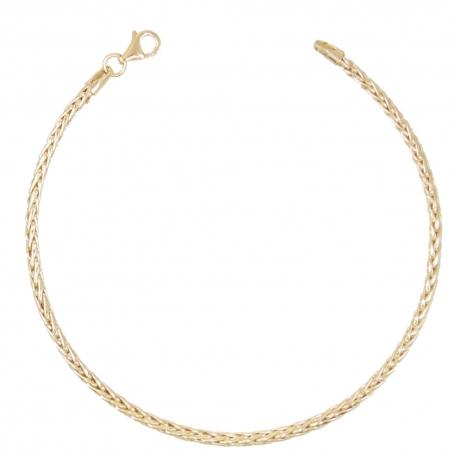 Bracelet Or 18 Carats 750/00 Maille Palmier Jaune - Femme