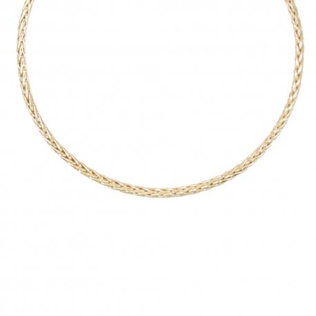 Collier Or 18 Carats 750/000 Maille Palmier Jaune - Femme