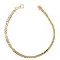 Bracelet Or 18 Carats 750/00 Maille Anglaise Jaune - Femme