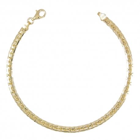 Bracelet Or 18 Carats 750/00 Maille Haricot Jaune - Femme