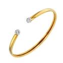 Bracelet Jonc Diamants et Or Jaune - Femme