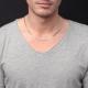 Collier / Chaîne Argent 925 - Maille Cheval - Homme 60 cm