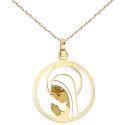 Collier - Médaille Or 18 Carats 750/000 Jaune - Vierge