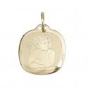 Pendentif - Médaille Ange - Or Jaune - Enfant + Gravure Offerte