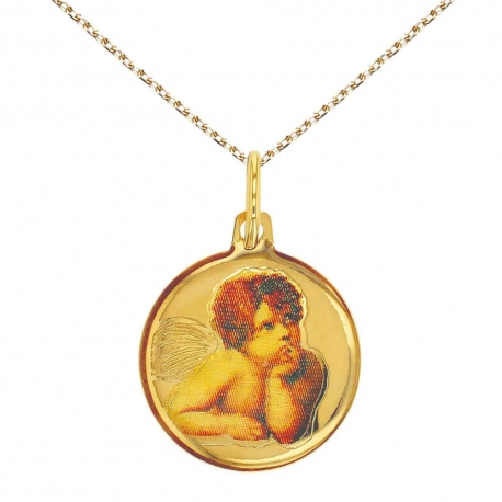 Collier - Médaille Or Jaune - Ange