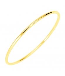 Bracelet Or 18 Carats 750/000 Massif Jaune - Jonc Femme