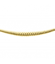 Collier Or 18 Carats 750/000 Maille Anglaise en Chute Jaune - Femme