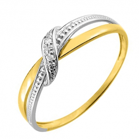 Bague Or et Diamant - Bicolore
