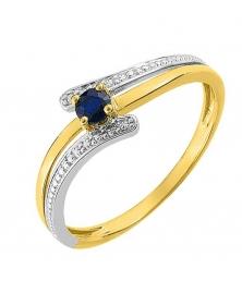 Bague Or et Saphir Bleu