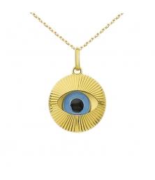 Collier - Pendentif Or Oeil Bleu