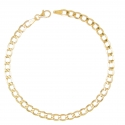 Bracelet Or 18 Carats 750/000 - Maille Gourmette Jaune - Homme