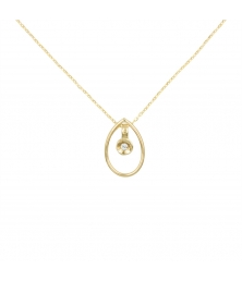 Collier Or et Diamant Solitaire - Femme