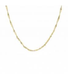 Collier Chaine Or 18 Carats 750/000 Jaune Maille Singapour - Femme