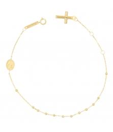 Bracelet Or 18 Carats 750/000 Jaune - Chapelet - Rosaire - Femme