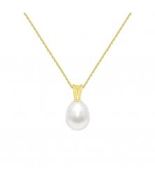 Collier - Pendentif Or Jaune et Perle de Culture Goutte - Femme