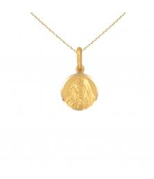 Collier - Médaille Or 18 Carats 750/000 Vierge - Chaîne Dorée Offerte
