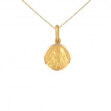Collier - Médaille Or 18 Carats 750/000 Vierge - Chaîne Dorée Offertes