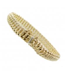 Bracelet Or Jaune Maille Américaine - Femme