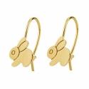 Boucles d'Oreilles Or Jaune - Dormeuses Lapins - Fille