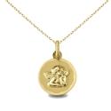 Collier - Médaille Or Jaune Ange - Gravure et Chaîne Dorée Offertes