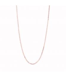Collier Chaine Or 18 Carats 750/000 - Maille Forçat Diamantée Rose - Femme ou Enfant