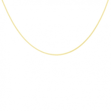 Collier Chaine Gourmette Or 18 Carats 750/000 Massif Jaune - Homme ou Femme