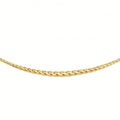 Collier Or 18 Carats 750/00 Maille Palmier Chute - Or Jaune