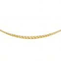 Collier Or 18 Carats 750/00 Maille Palmier en Chute - Or Jaune