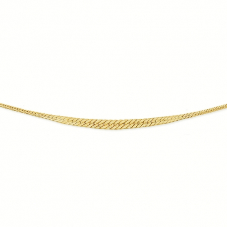Collier Or 18 Carats 750/00 Maille Anglaise en Chute - Or Jaune