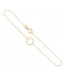 Bracelet Or Jaune et Diamants - Motif Anneau