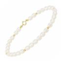 Bracelet Or et Perles - Femme