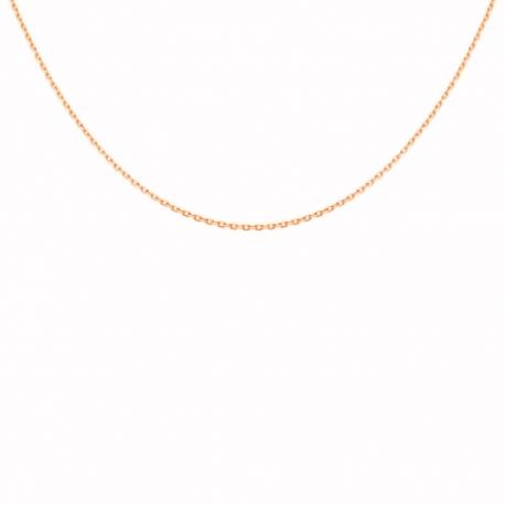 Chaine Dorée Rosée Forçat - Femme ou Enfant - 42cm
