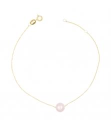 Bracelet Or et Perle Rose - Femme