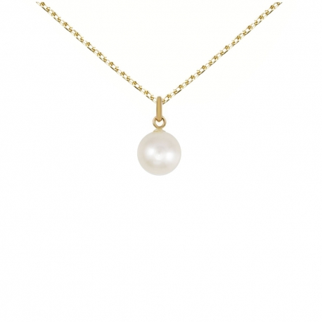 Pendentif Perle de Culture 0.80cm - Or Jaune - Femme ou Enfant