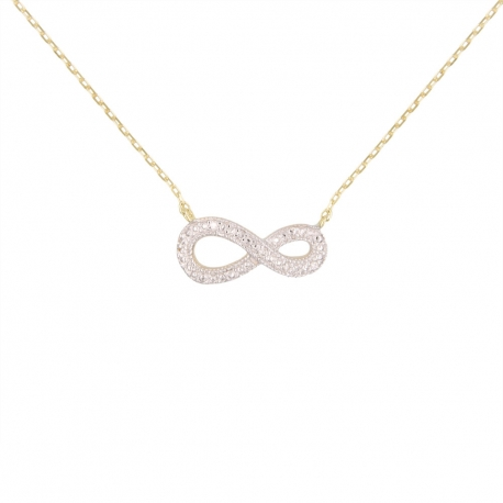 Collier Or Jaune et Diamants - Motif Infini Infinity – Femme