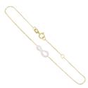 Bracelet Or Jaune et Diamants - Motif Infini Infinity - Femme