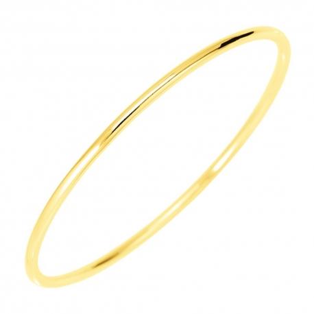 Bracelet Or Massif - Jonc Jaune - Femme