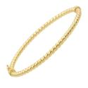 Bracelet Or Jaune - Jonc Torsadé - Femme