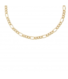 Collier / Chaîne Homme Maille Figaro Alternée 1+3 - Or Jaune