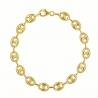 Bracelet Or 18 Carats Maille Grain de Café - Jaune - Homme ou Femme