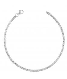 Bracelet Maille Palmier - Or Blanc - Femme