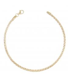 Bracelet Maille Palmier - Or Jaune - Femme